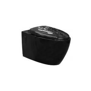 Toilet bowl, black (black Pearl) 57 cm