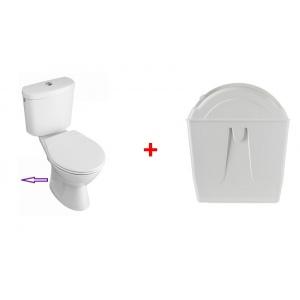 Chasse d'eau rotative avec pack WC sortie horizontale
