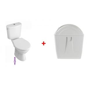 Réservoir toilettes écologiques avec pack WC sortie verticale