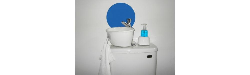 Wandschutz für kleines Handwaschbecken (Typ WiCi Mini)