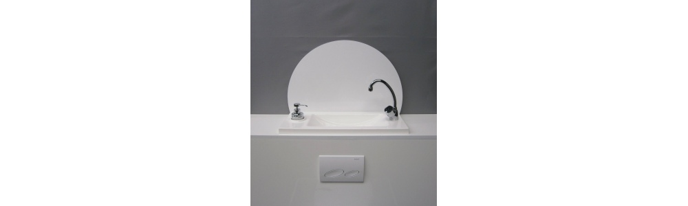 Large hand wash basin splash guards (WiCi Boxi design)