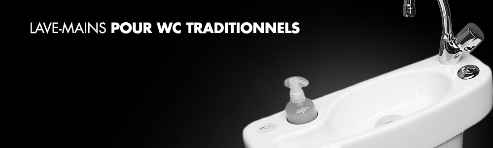 Waschbecken für traditionelle WCs