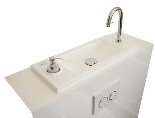 WC suspendu Geberit avec lave-mains WiCi Bati - Modèle Coco