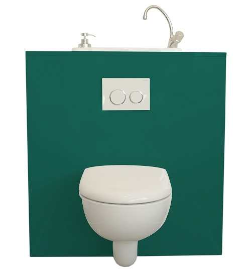 Geberit wall-hung toilet with WiCi Boxi integrated washbasin - Dublin