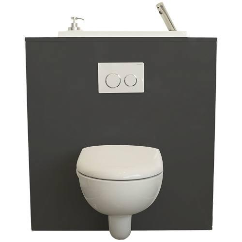 Wand-WC mit WiCi Bati Waschbecken – Modell Chicago   WiCi ...