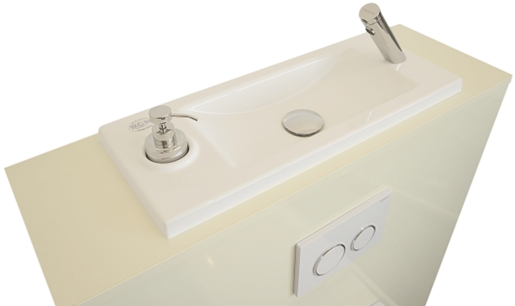Geberit wall-hung toilet with WiCI Boxi washbasin - Miami