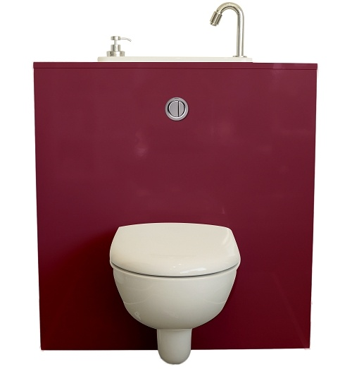Geberit wall-hung toilet with WiCi Next sink - Opera