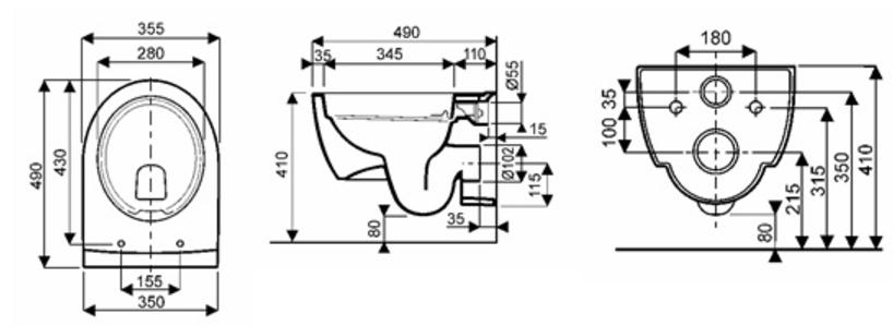 cuvette wc suspendue rimfree allia lovely compact wici. Black Bedroom Furniture Sets. Home Design Ideas