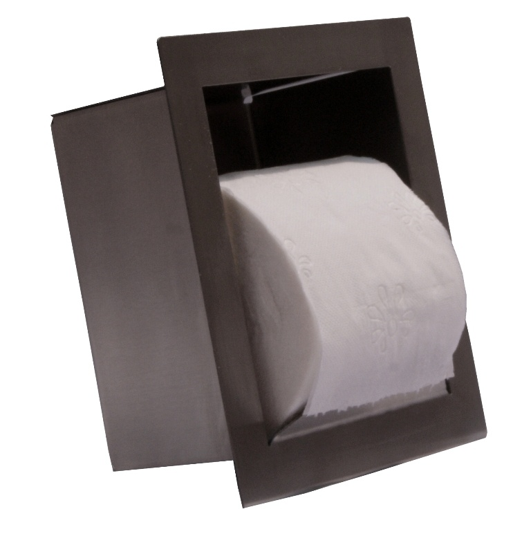 Recessed toilet paper holder (1 roll) for Wall-hung toilets