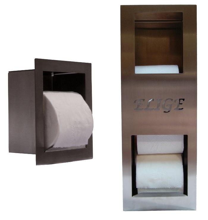 Distributeur et réserve de papier toilette