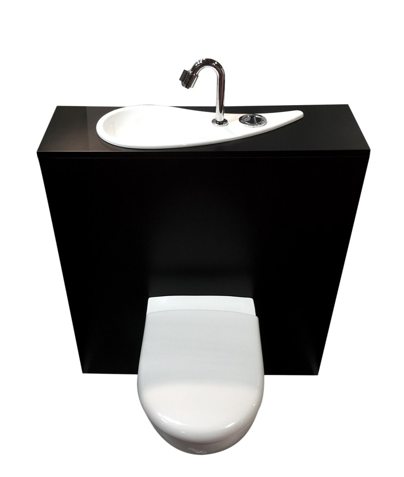 wici free flush wc suspendu geberit avec lave mains design int gr wici concept. Black Bedroom Furniture Sets. Home Design Ideas