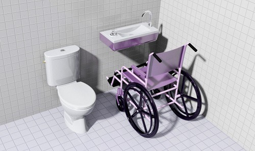 Rendu WiCi Bati PMR dans une piece sanitaire