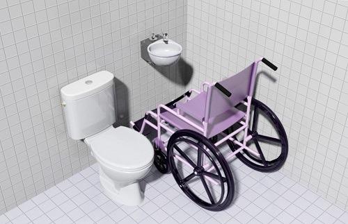 Rendu WiCi Mini PMR dans une piece sanitaire