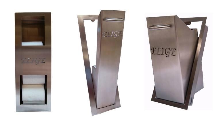 Ersatzrollenhalter, WC-Bürstenhalter und Abfalleimer Pack