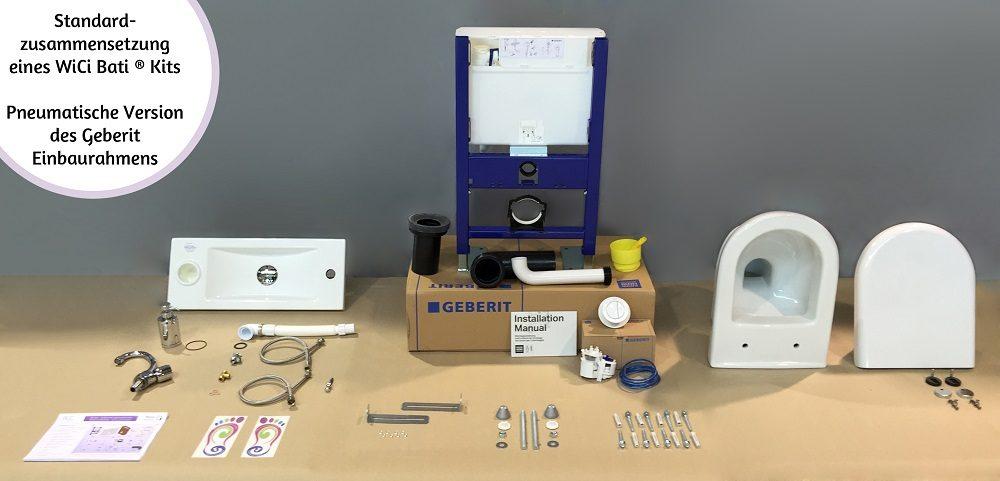 WiCi Bati kit Standardzusammensetzung - pneumatische Version des Einbaurahmens