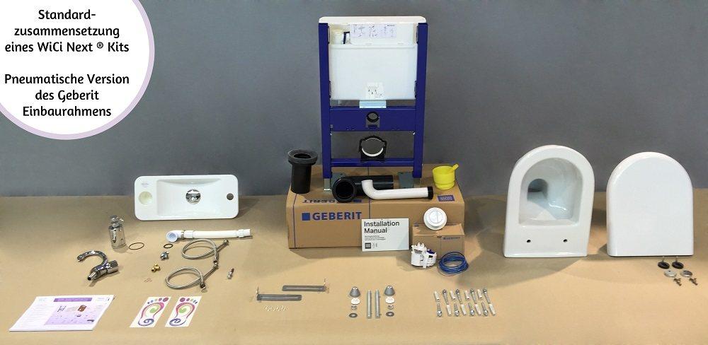 WiCi Next kit Standardzusammensetzung - pneumatische Version des Einbaurahmens