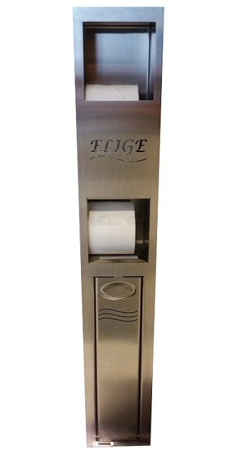 Combiné distributeur de papier WC et support à balai
