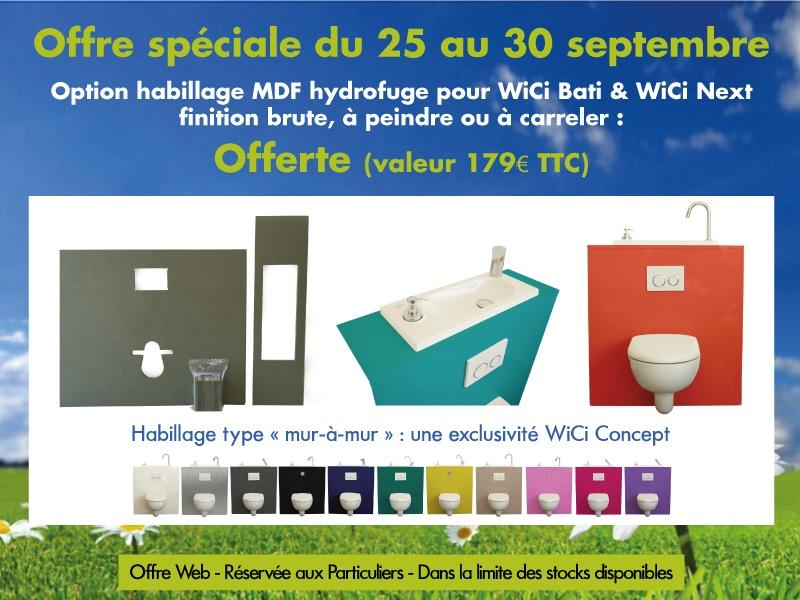 Promotion WiCi Concept de la semaine : -Habillages bruts offerts !