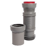 CETA Multibati flexible waste pipe for wall-mounted toilets