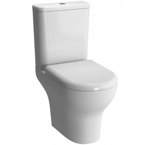 With Adésio horizontal outlet toilet pack, soft close lid